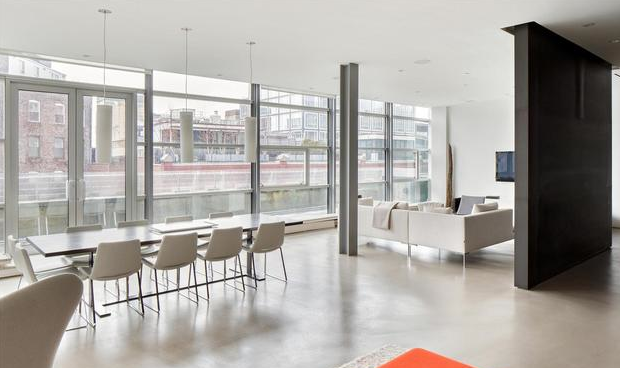 Living and Dining Area - 497 Greenwich Street - Soho