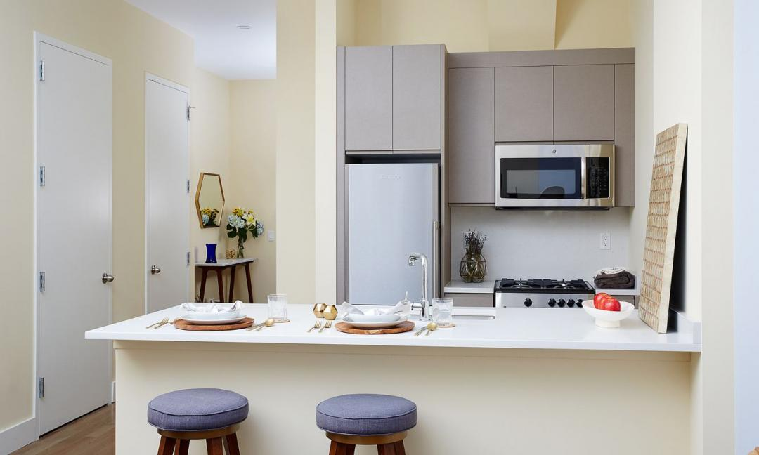 Kitchen at Sienna37 in NYC - Apartments for rent