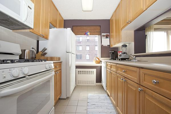 Open Kitchen at 50 Battery Place in Manhattan