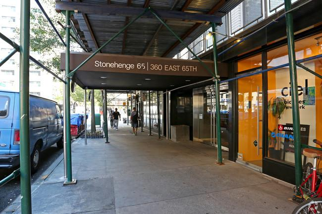 Entry at 360 East 65th Street in Upper East Side