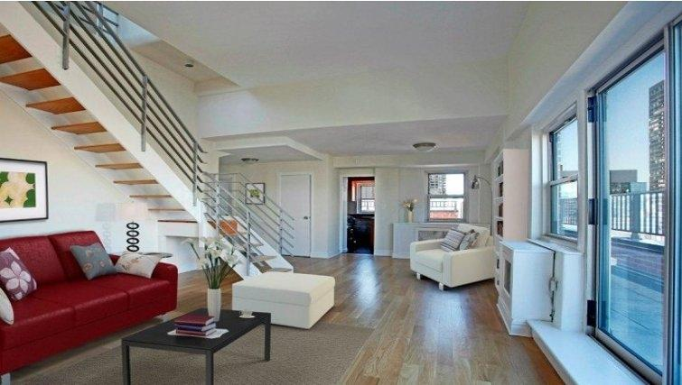 Living Room at Stonehenge 65 in NYC - Apartments for rent