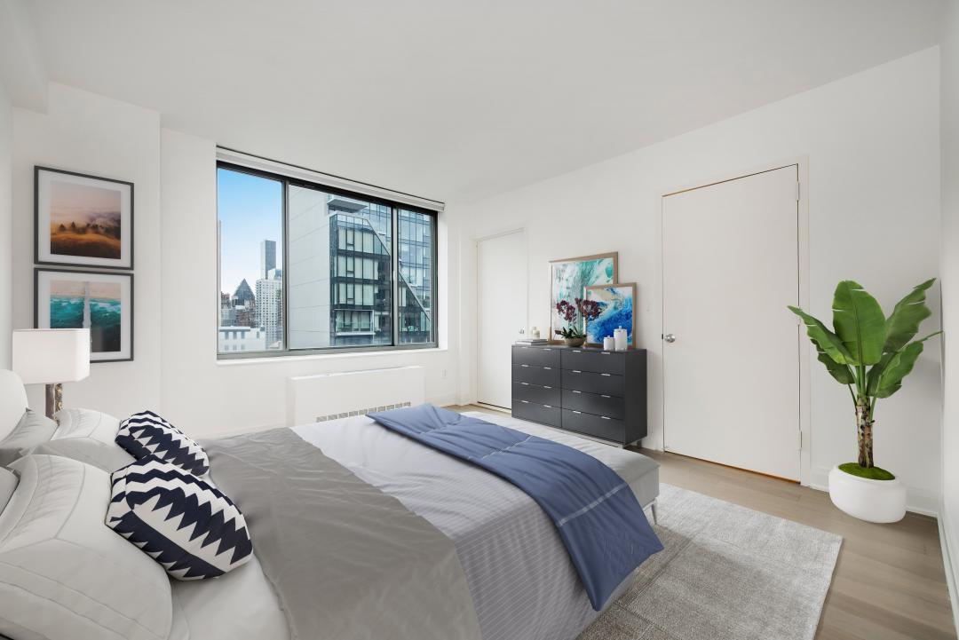 222 East 34th Street Bedroom - Manhattan Rental Apartments