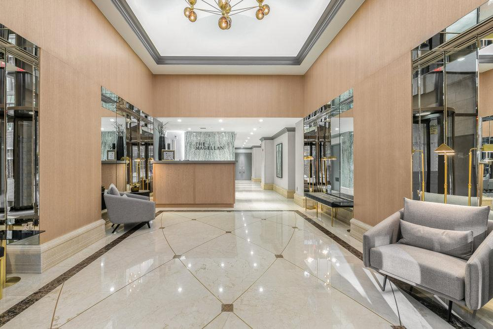 The Magellan Lobby - Chelsea Apartment Rentals