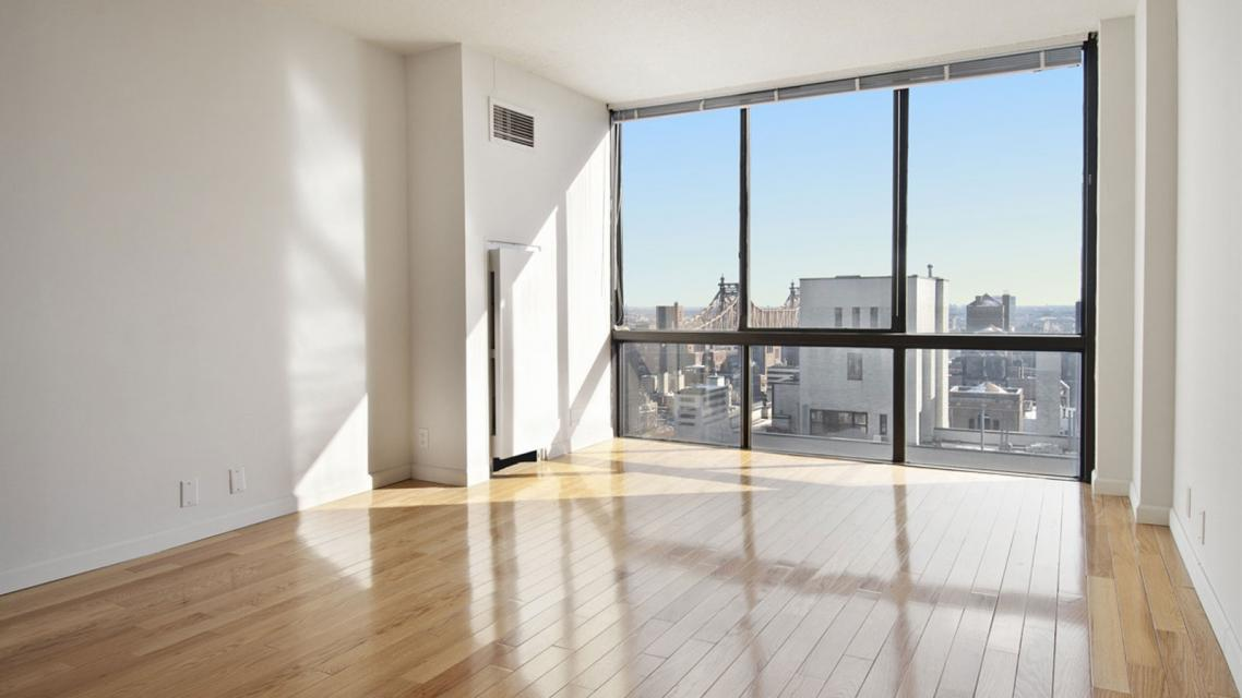 The Morrison Living Room - Midtown East Apartment Rentals