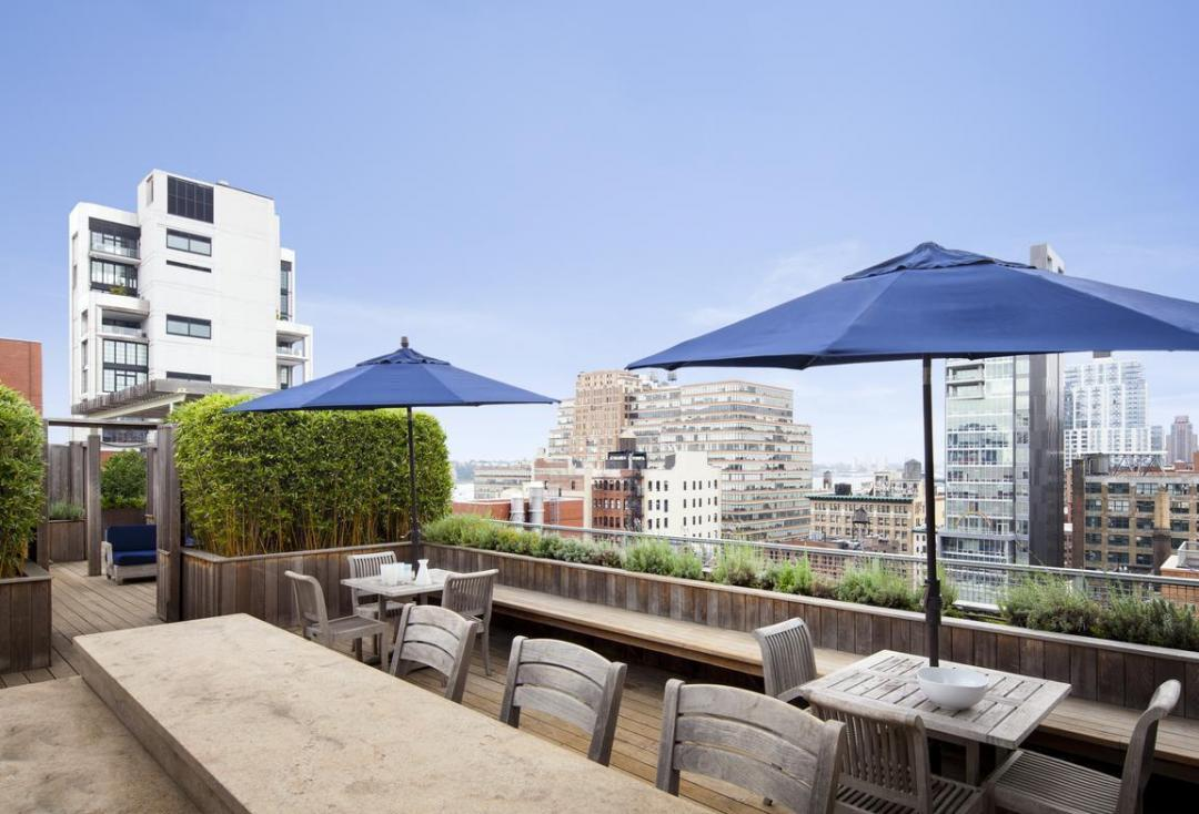 535 West 23rd Street Rooftop Terrace - NYC Rental Apartments