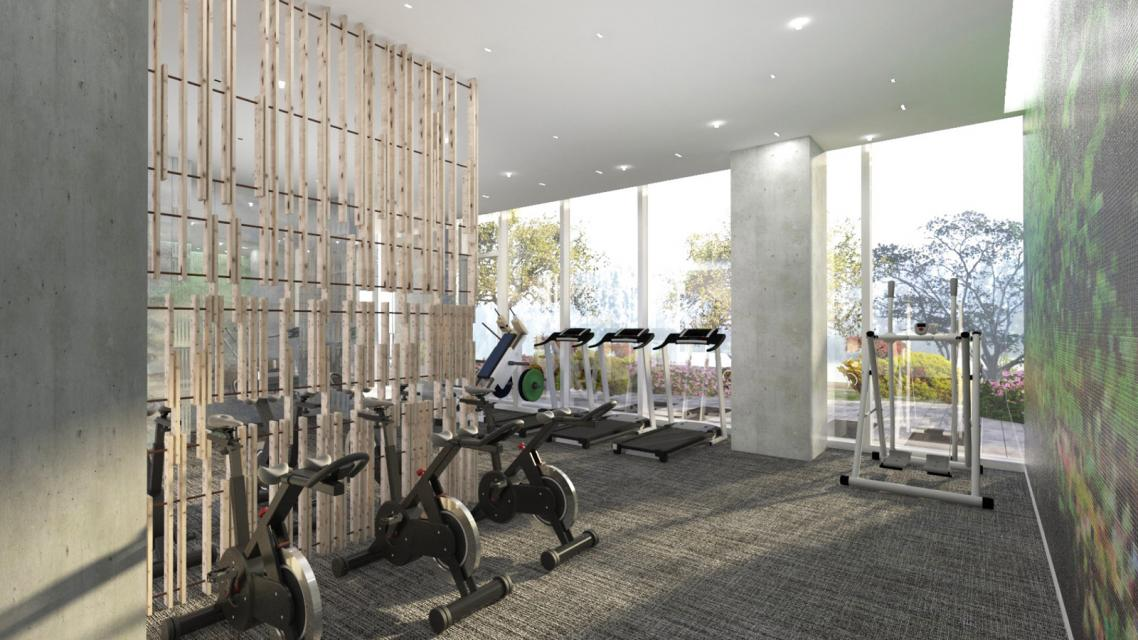 The Building's Gym at The Azure
