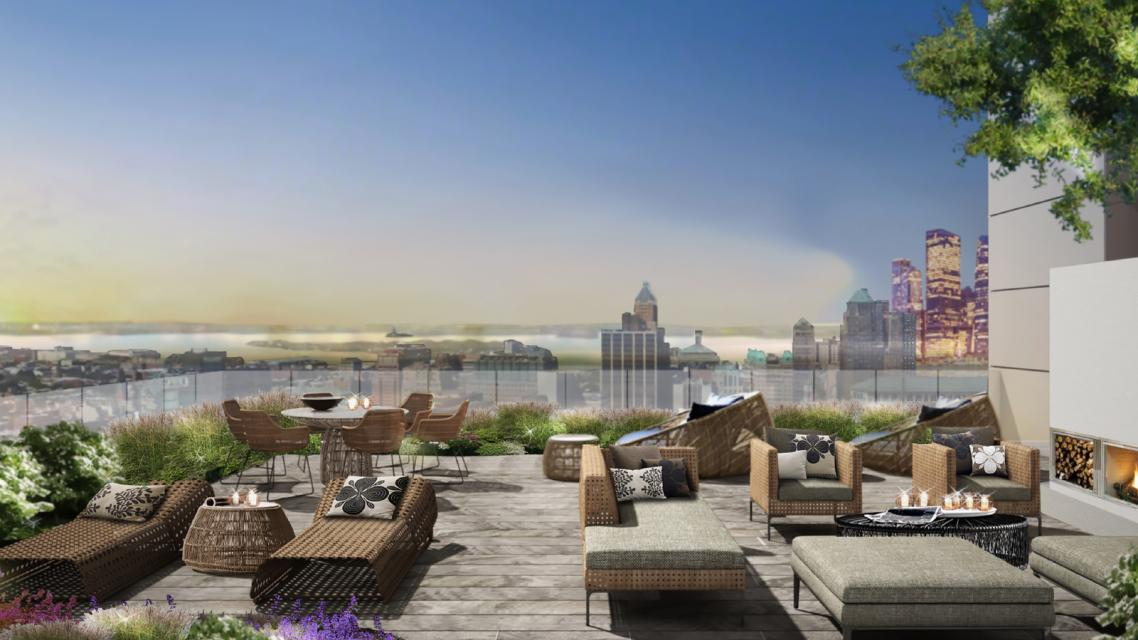 The Building's Rooftop Terrace at The Azure