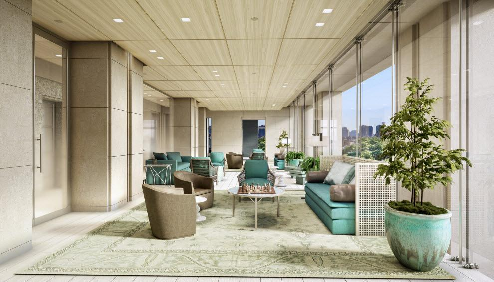 Lounge at The Encore in Manhattan - Condos for rent