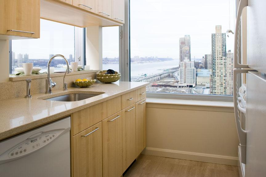 Kitchen at The Helena in Manhattan - Apartments for rent