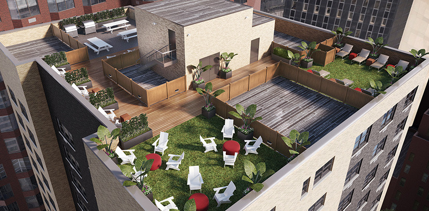 Roofdeck at 222 E 39th Street - Midtown luxury rentals