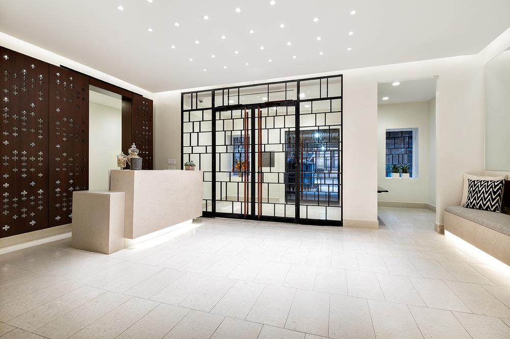The Building's lobby at 245 West 25th Street in NYC
