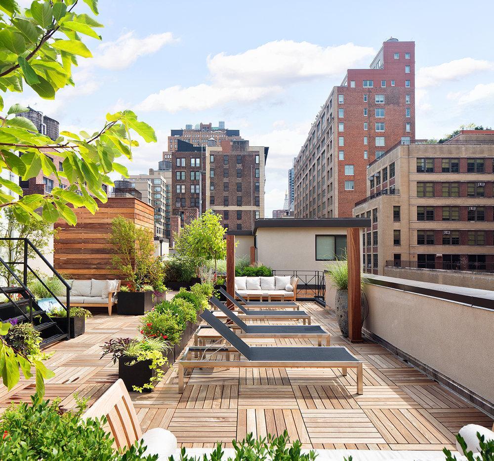 Rentals at The Arthur in Manhattan -Rooftop garden
