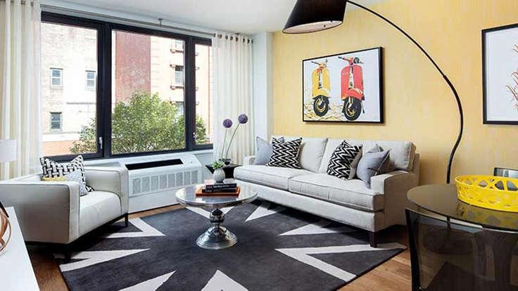 Livingroom at The Bergen in NYC - Condos for rent