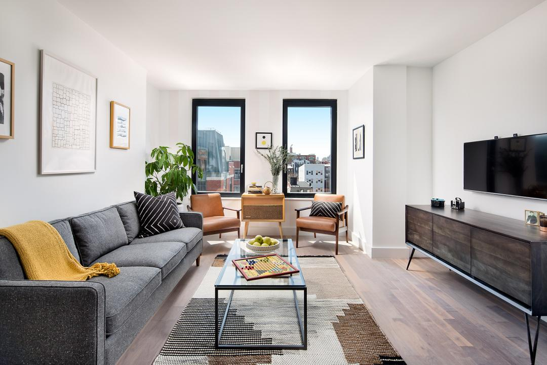 Apartments for rent at The Berkley in Williamsburg - Living Room
