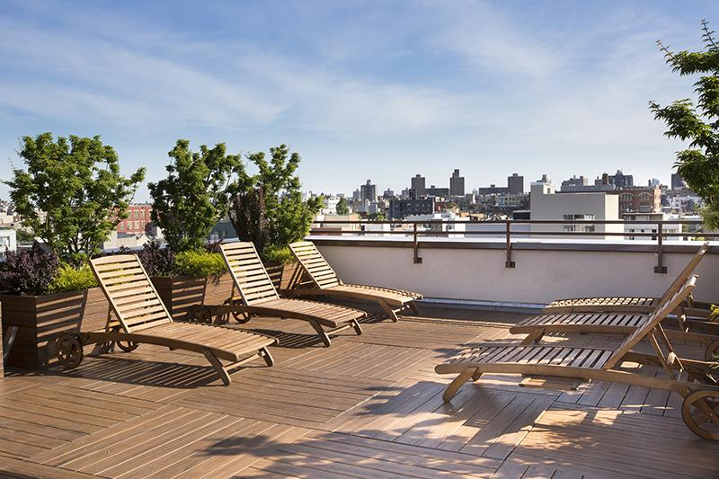 Rooftop Deck at 205 North 9th Street in NYC - Condos for rent