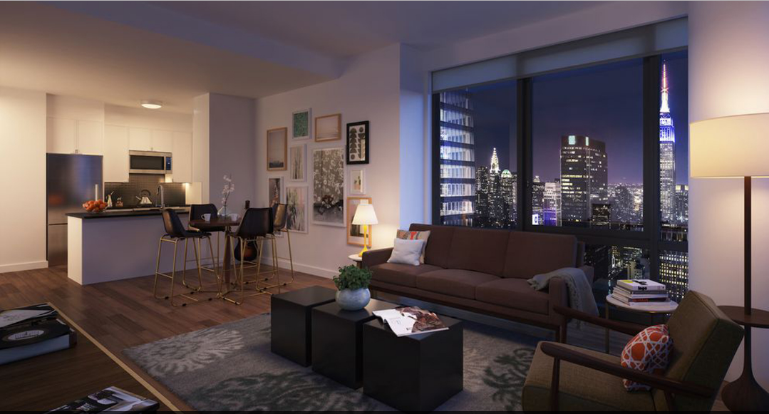Apartments for rent at The Eugene in Manhattan - Living Area