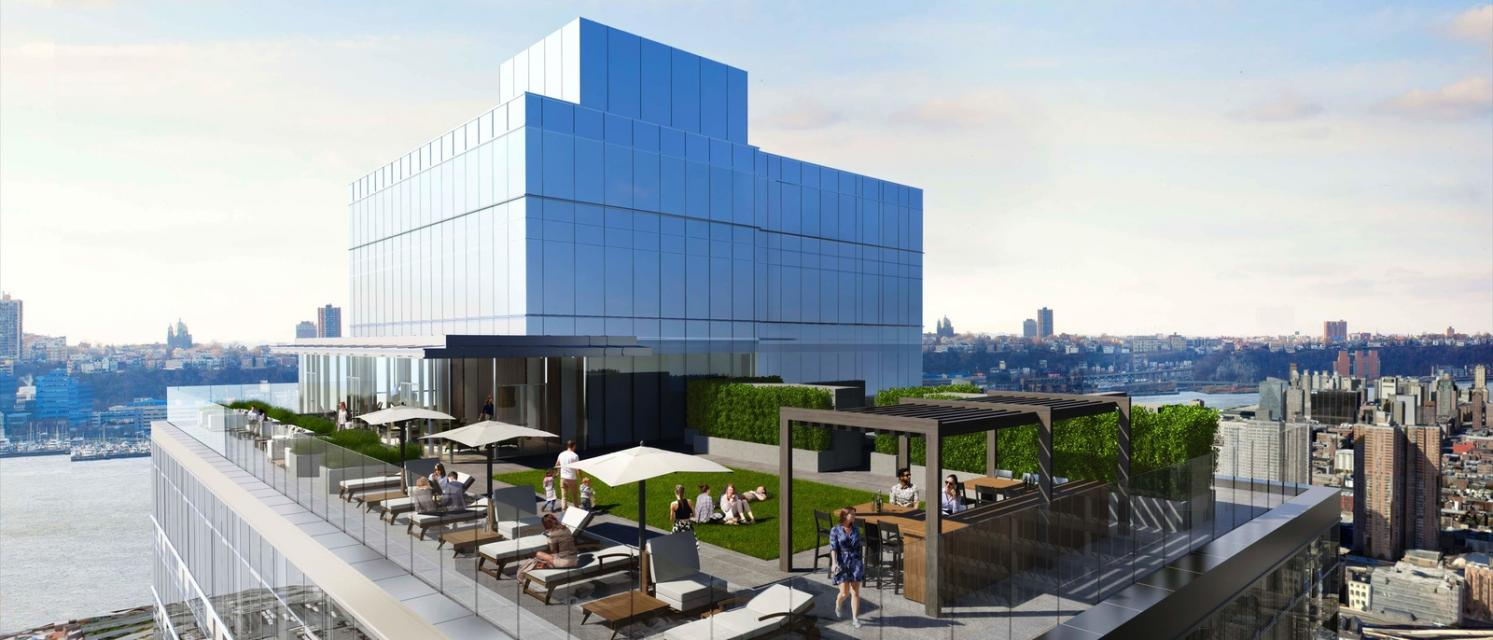 Rooftop Deck at 435 West 31st Street in NYC - Apartments for rent