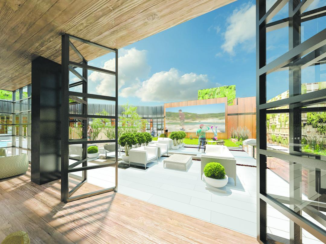 Apartments for rent at The Forge in Long Island City - Courtyard