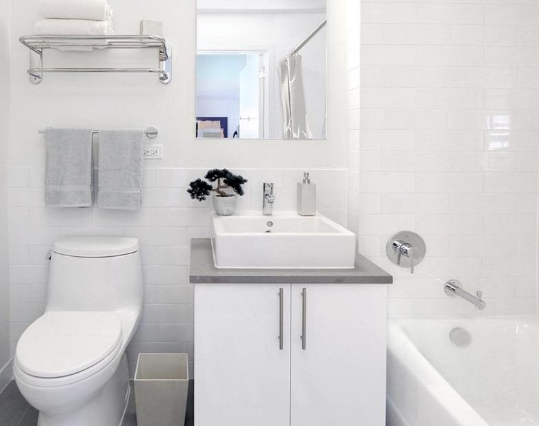 Bathroom at 81 Fleet Place in Brooklyn Heights - Apartments for rent