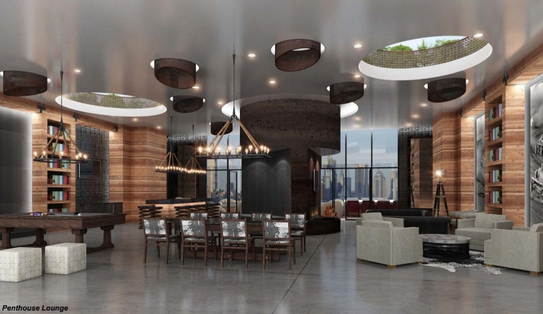 Penthouse Lounge at The Halo in Long Island City