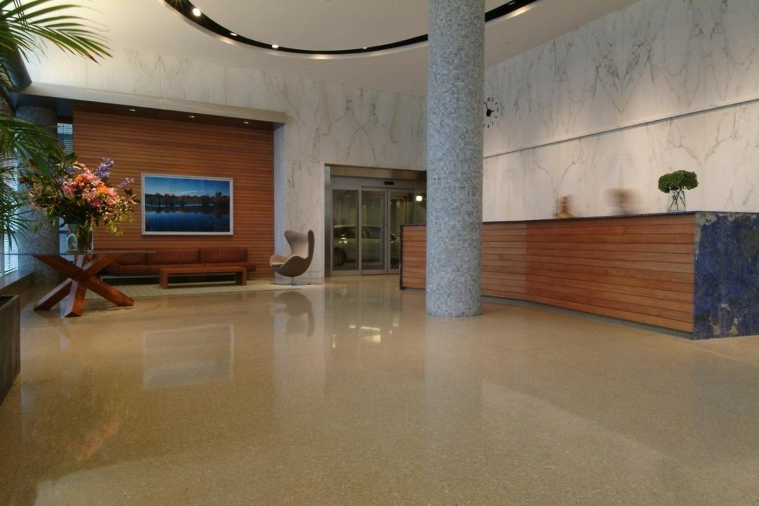 The Building's lobby at 601 West 57th Street in Midtown West