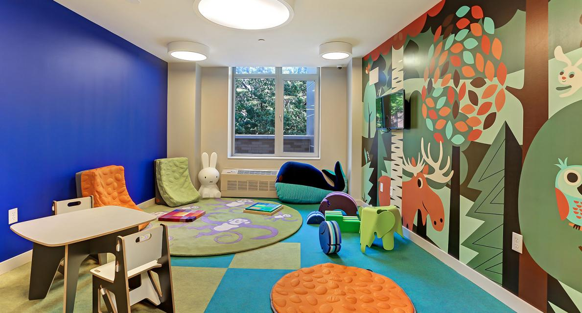 Children's playroom at 180 Myrtle Avenue in Brooklyn