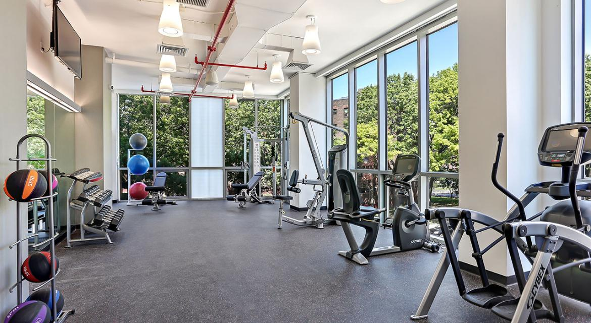 Fitness Center at The Margo in Brooklyn - Apartments for rent