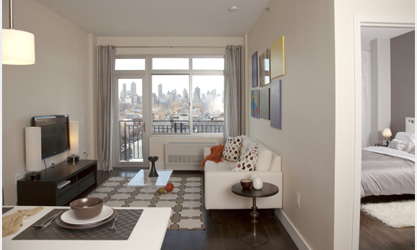 THIRTY-FIFTY Living Room Area- Astoria Apartments for Rent