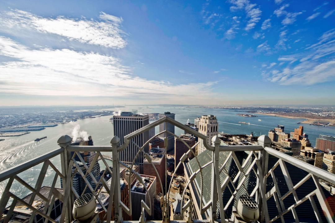 Open views from 70 Pine Street in Financial District