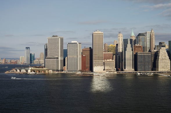 Panoramic View from One Brooklyn Bridge Park, Brooklyn Heights