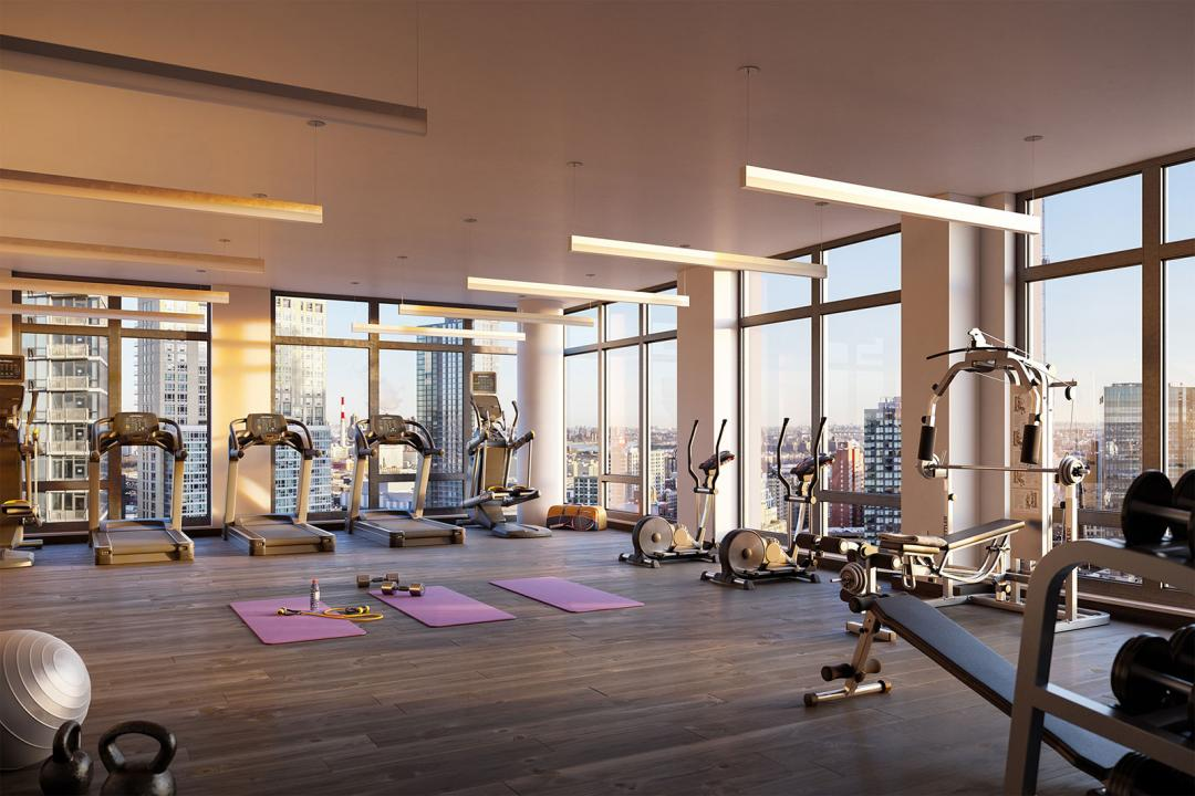 Fitness Center at 27-19 44th Drive in Queens - Apartments for rent