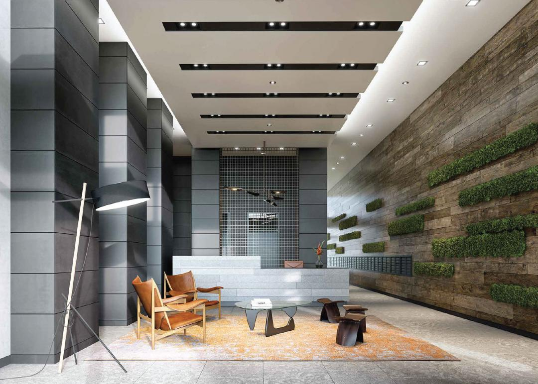 The Building's Lobby at Watermark LIC in Queens