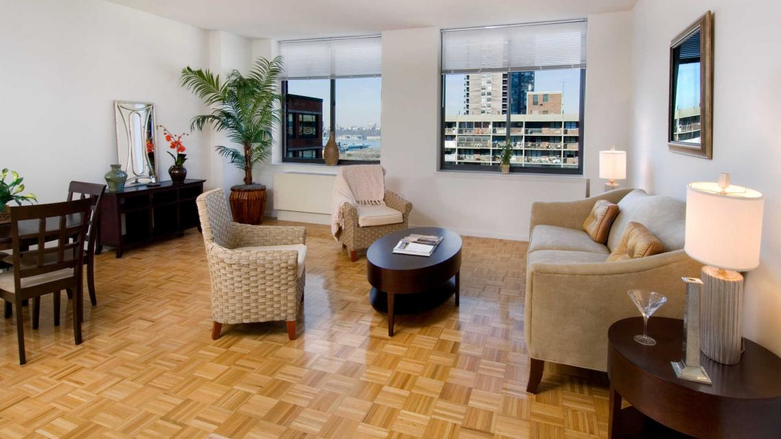 505 West 54th Street Living Room - NYC Rental Apartments