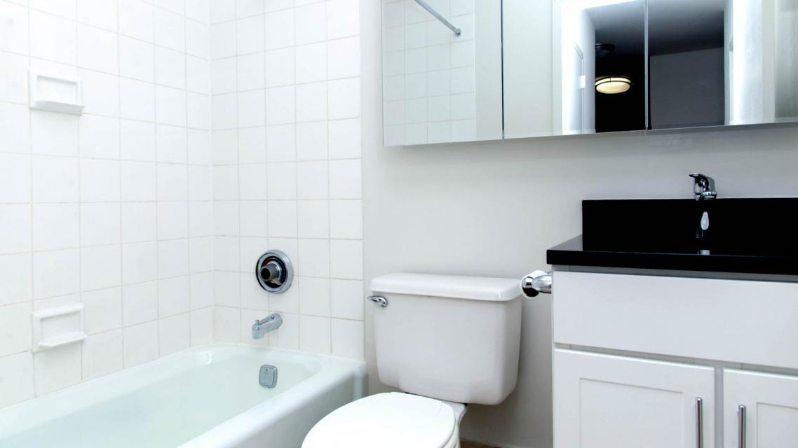 Bathroom of rental apartments at 750 Columbus Avenue
