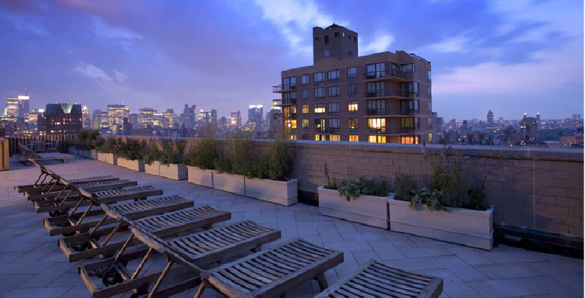 Rooftop Deck on the Wimbledon Apartment Building, Sky Terrace