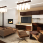 Residence Lounge with Fireplace and Flat Screens 200 West 72nd Street The corner