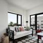 Living Room at Exo, Astoria Queens Rentals