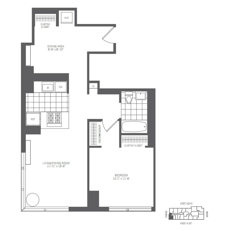 One Bedroom Apartments For Rent Near Me: 450 West 42nd Street Rentals