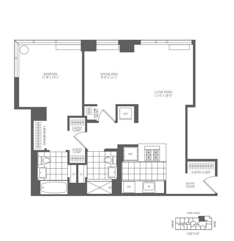 3 Bedroom Apartment Nyc: 450 West 42nd Street Rentals