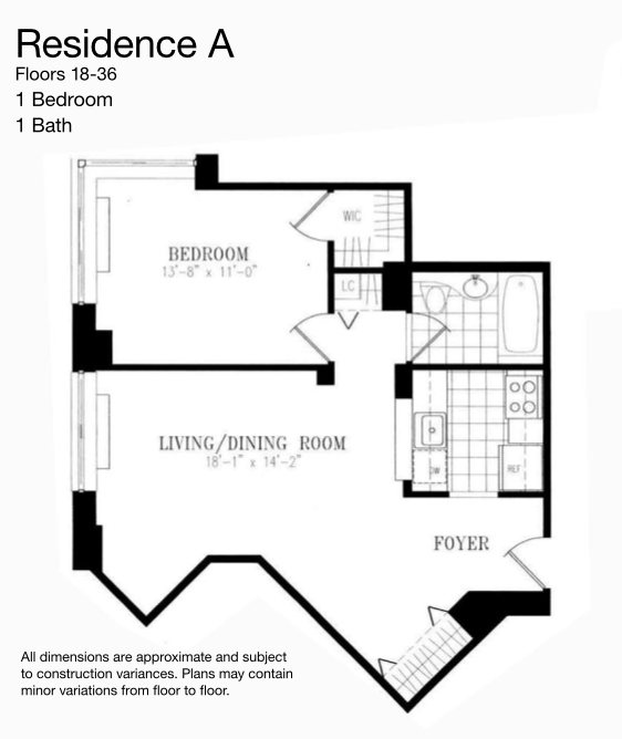 1 Bedroom Apartment Chelsea New York: 55 West 26th Street Rentals