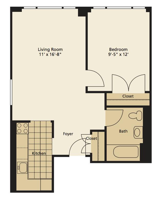1 Bedroom Loft Apartment: 222 East 3rd Street Rentals