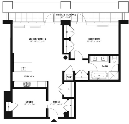 Floorplans A B C D  Request 1 Bedroom Showing. 360 Furman Street rentals   One Brooklyn Bridge Park   Apartments