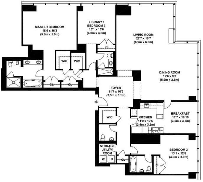 3 Bedroom Apartment Nyc Home Design