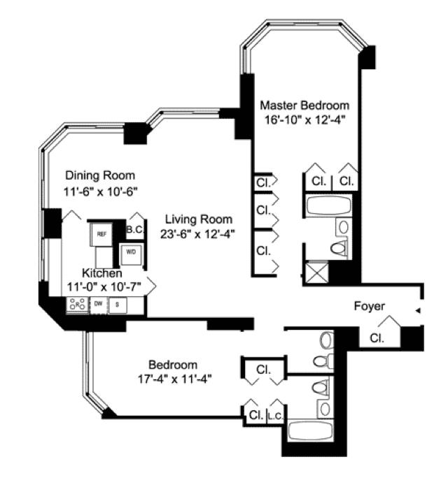 Floorplans A B C D Request 2 Bedroom Showing