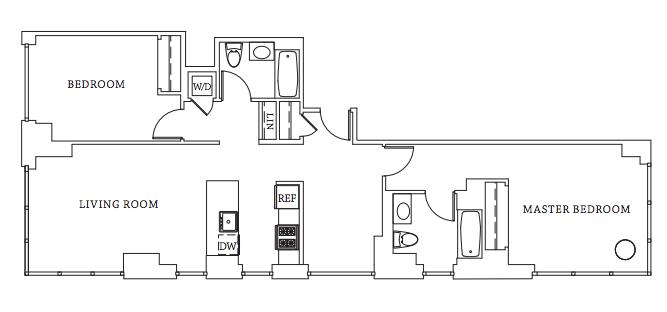 Gotham West Market Floor Plan 550 west 45th street rentals | gotham west | apartments for rent