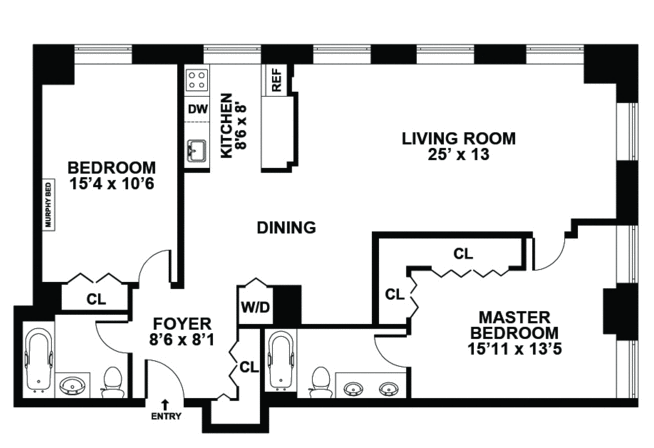 Apartments Bed Floor Plan For 2 Bedroom Flat Also Floor 2 ...