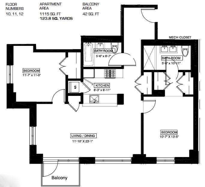 2 Bedroom Apartments Manhattan: 2-26 50th Avenue Rentals