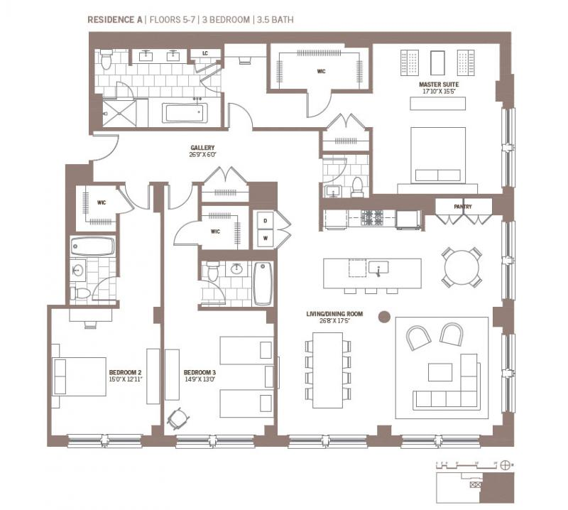 3 Bedroom Apartments In Manhattan: Apartments For Rent In Tribeca