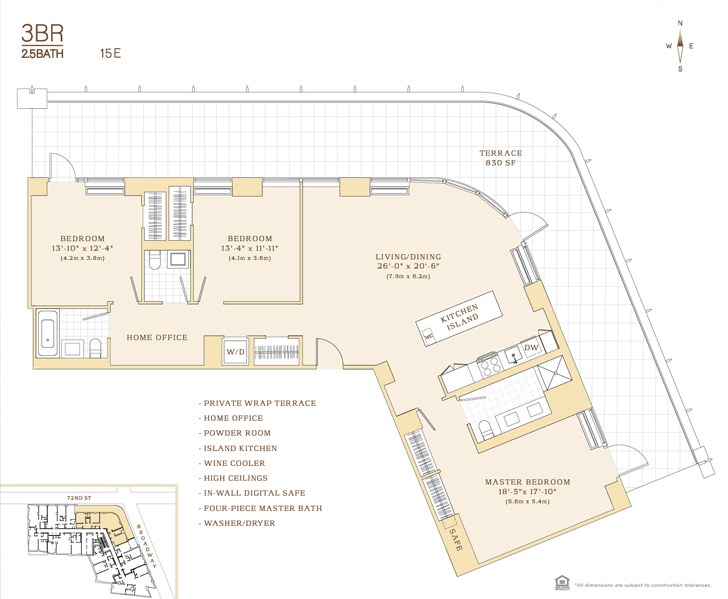 200 west 72nd street rentals the corner apartments for rent in lincoln square - Terras appartement lay outs ...