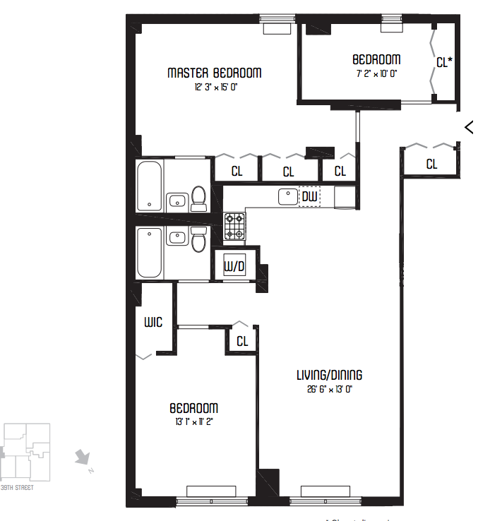 1 bedroom apartment building floor plan memes for Three bedroom apartment layout